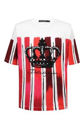 Мужская хлопковая футболка DOLCE & GABBANA красного цвета, арт. G8KN7T/FI7YW | Фото 1