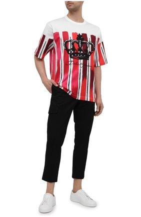 Мужская хлопковая футболка DOLCE & GABBANA красного цвета, арт. G8KN7T/FI7YW | Фото 2