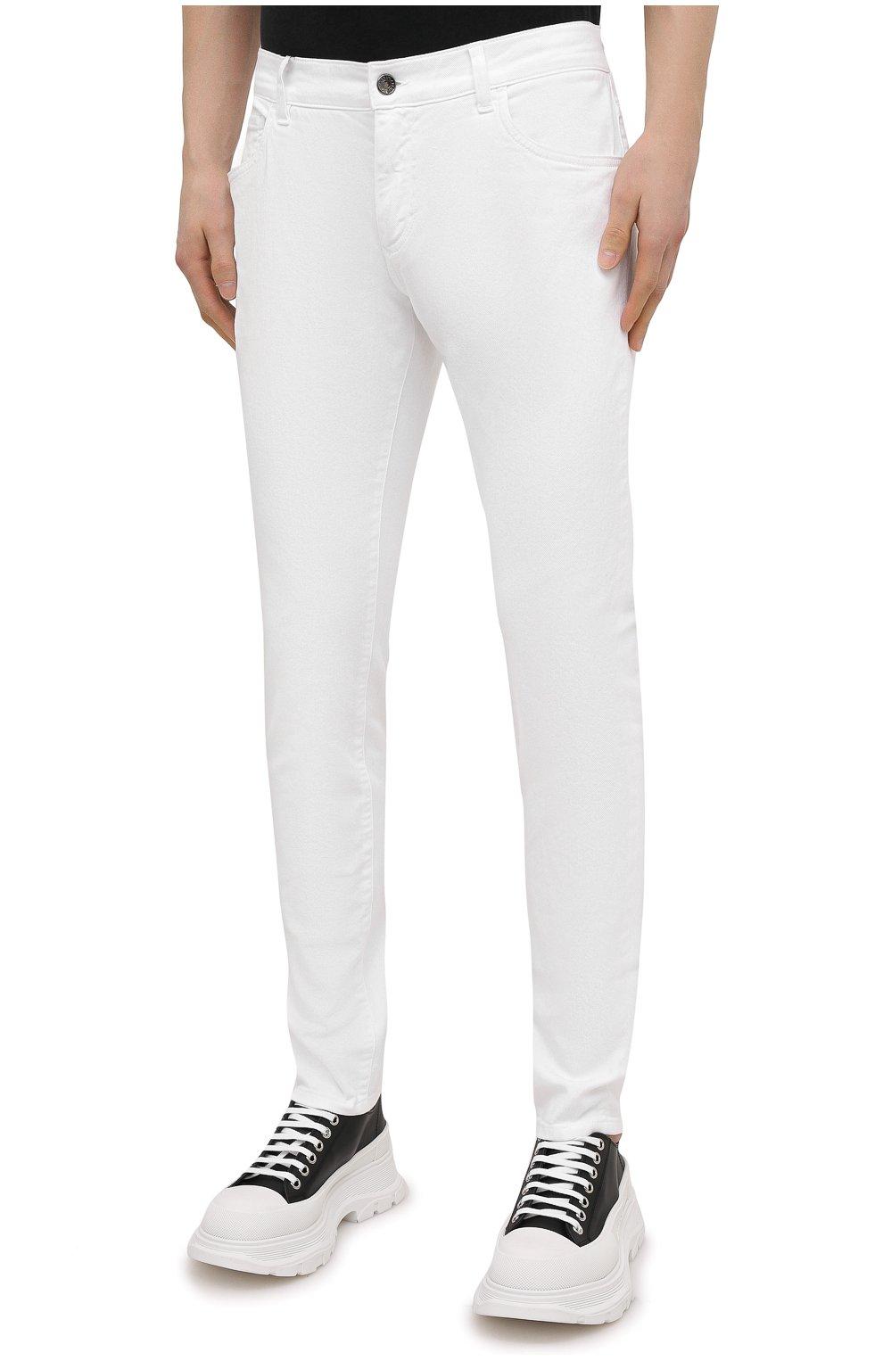 Мужские джинсы DOLCE & GABBANA белого цвета, арт. GY07LD/G8CN8 | Фото 3