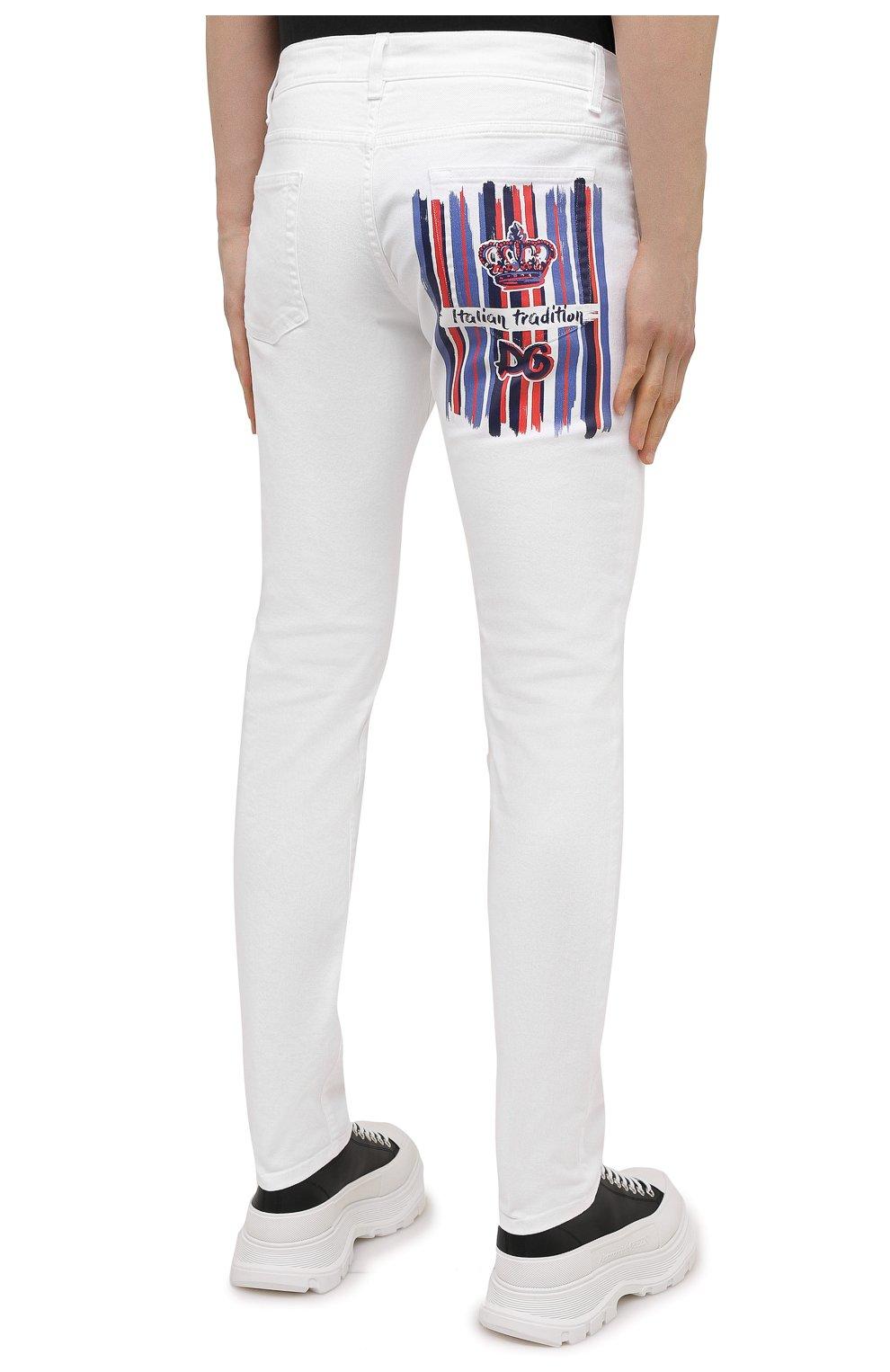 Мужские джинсы DOLCE & GABBANA белого цвета, арт. GY07LD/G8CN8 | Фото 4