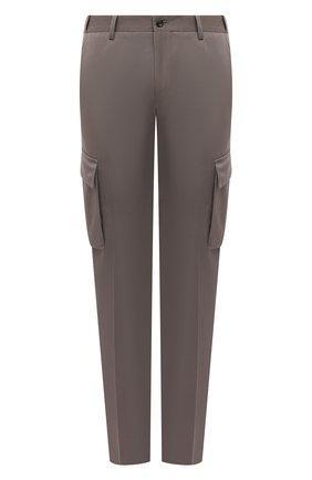 Мужские брюки-карго из хлопка и кашемира CORNELIANI темно-бежевого цвета, арт. 874L02-1114105/00 | Фото 1