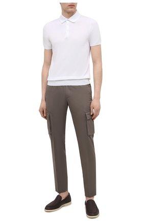 Мужские брюки-карго из хлопка и кашемира CORNELIANI темно-бежевого цвета, арт. 874L02-1114105/00 | Фото 2