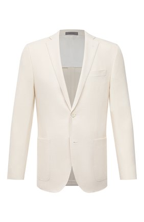 Мужской пиджак из шерсти и льна CORNELIANI белого цвета, арт. 87XY72-1118266/90 | Фото 1