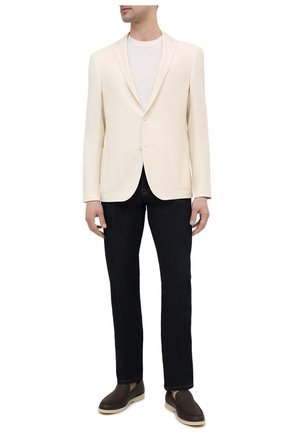 Мужской пиджак из шерсти и льна CORNELIANI белого цвета, арт. 87XY72-1118266/90 | Фото 2