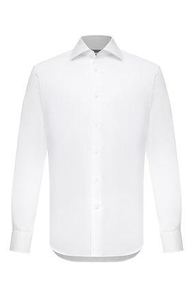 Мужская хлопковая сорочка CORNELIANI белого цвета, арт. 87P100-1111264/00 | Фото 1