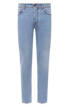 Мужские джинсы CORNELIANI голубого цвета, арт. 874JK2-1120147/00   Фото 1 (Длина (брюки, джинсы): Стандартные; Материал внешний: Хлопок; Кросс-КТ: Деним; Силуэт М (брюки): Прямые; Стили: Кэжуэл)