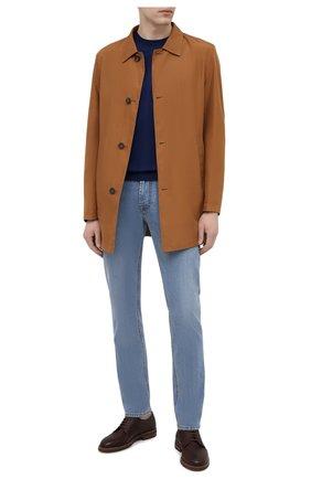 Мужские джинсы CORNELIANI голубого цвета, арт. 874JK2-1120147/00   Фото 2 (Длина (брюки, джинсы): Стандартные; Материал внешний: Хлопок; Кросс-КТ: Деним; Силуэт М (брюки): Прямые; Стили: Кэжуэл)