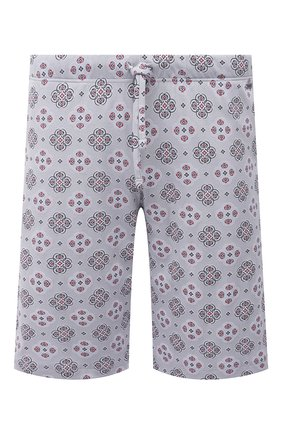 Мужские хлопковые шорты HANRO серого цвета, арт. 075513 | Фото 1 (Материал внешний: Хлопок; Кросс-КТ: домашняя одежда)