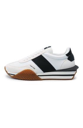 Мужские комбинированные кроссовки TOM FORD белого цвета, арт. J1292T-TAP003 | Фото 3