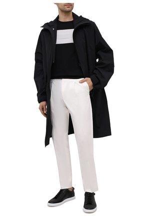 Мужские кожаные кеды CORNELIANI черного цвета, арт. 87TM59-1120925 | Фото 2 (Подошва: Плоская; Материал внутренний: Натуральная кожа)