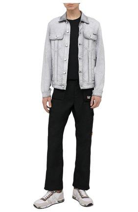 Мужские комбинированные кроссовки eric PREMIATA белого цвета, арт. ERIC/VAR5174 | Фото 2 (Материал внутренний: Натуральная кожа; Подошва: Плоская; Материал внешний: Текстиль; Стили: Гранж)