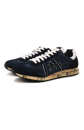Мужские комбинированные кроссовки lucy PREMIATA темно-синего цвета, арт. LUCY/VAR5151 | Фото 1