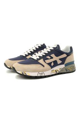 Мужские комбинированные кроссовки mick PREMIATA синего цвета, арт. MICK/VAR5187 | Фото 1