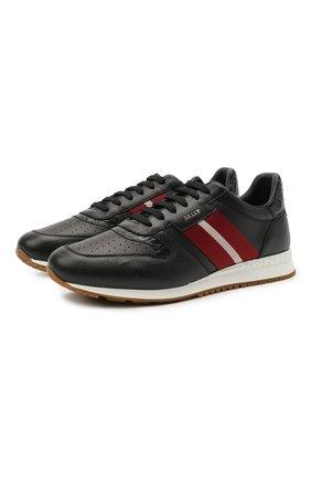 Мужские кожаные кроссовки arnold BALLY черного цвета, арт. ARN0LD-F0/20 | Фото 1 (Материал внутренний: Натуральная кожа; Подошва: Массивная; Стили: Классический)