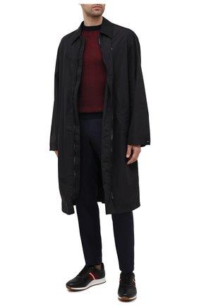 Мужские кожаные кроссовки arnold BALLY черного цвета, арт. ARN0LD-F0/20 | Фото 2 (Материал внутренний: Натуральная кожа; Подошва: Массивная; Стили: Классический)