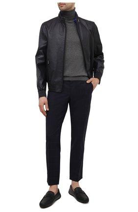 Мужские кожаные мокасины park BALLY черного цвета, арт. PARK-I/430 | Фото 2 (Материал внутренний: Натуральная кожа; Стили: Кэжуэл)