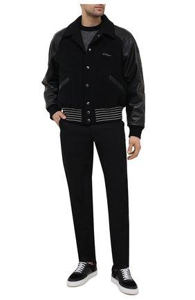 Мужские комбинированные кеды JACOB COHEN черного цвета, арт. DREAMER-94003 | Фото 2 (Подошва: Массивная; Материал внутренний: Натуральная кожа)