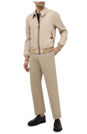 Мужские кожаные дерби pimion BALLY темно-коричневого цвета, арт. PIMI0N/41 | Фото 2 (Материал внутренний: Натуральная кожа; Стили: Классический)