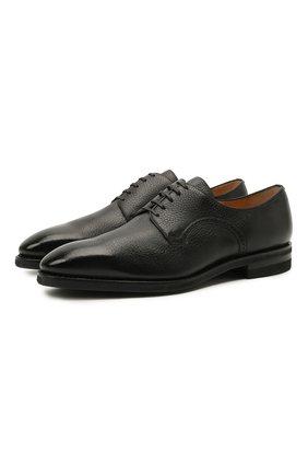 Мужские кожаные дерби scrivani BALLY черного цвета, арт. SCRIVANI/500 | Фото 1 (Материал внутренний: Натуральная кожа; Стили: Классический)