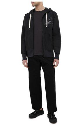 Мужская хлопковая футболка MAISON MARGIELA темно-серого цвета, арт. S50GC0622/S22533   Фото 2