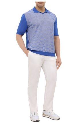 Мужское хлопковое поло SVEVO синего цвета, арт. 46310SE21L/MP46 | Фото 2