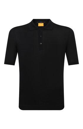 Мужское шелковое поло SVEVO черного цвета, арт. 3500SE21/MP35   Фото 1