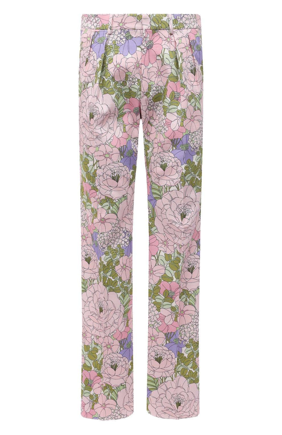 Мужские брюки из вискозы TOM FORD разноцветного цвета, арт. 942R50/759F42 | Фото 1