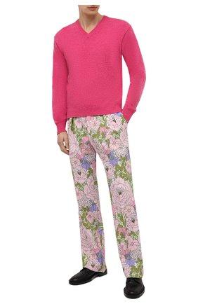 Мужские брюки из вискозы TOM FORD разноцветного цвета, арт. 942R50/759F42 | Фото 2