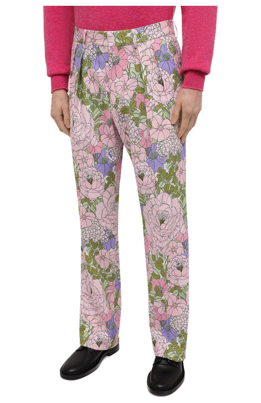 Мужские брюки из вискозы TOM FORD разноцветного цвета, арт. 942R50/759F42 | Фото 3