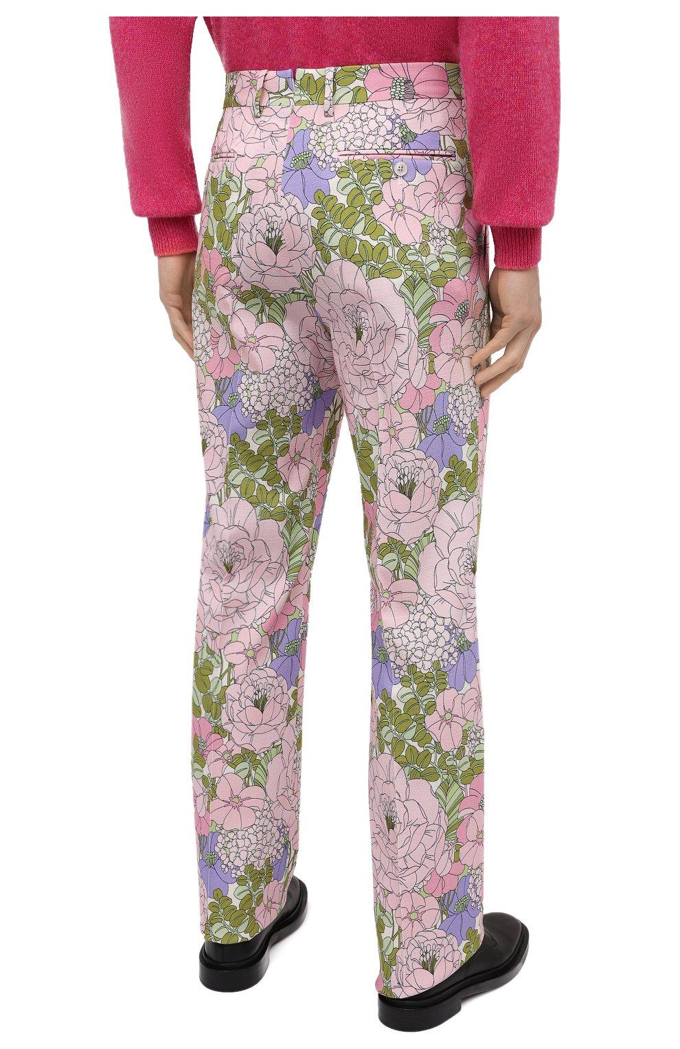 Мужские брюки из вискозы TOM FORD разноцветного цвета, арт. 942R50/759F42 | Фото 4