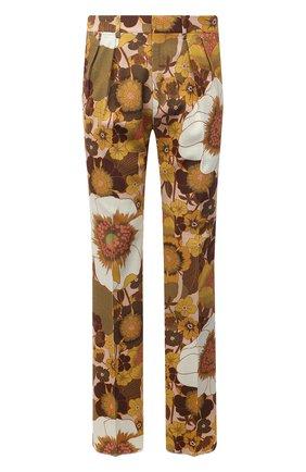 Мужские брюки из вискозы TOM FORD разноцветного цвета, арт. 942R15/759F42 | Фото 1