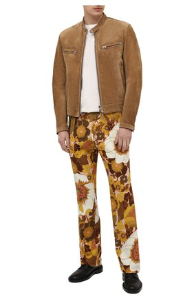 Мужские брюки из вискозы TOM FORD разноцветного цвета, арт. 942R15/759F42 | Фото 2