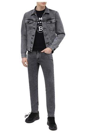 Мужские джинсы OFF-WHITE серого цвета, арт. 0MYA074S21DEN003 | Фото 2