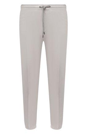 Мужские хлопковые джоггеры Z ZEGNA светло-серого цвета, арт. 9ZF028/73GLC1 | Фото 1 (Материал внешний: Хлопок; Длина (брюки, джинсы): Стандартные; Силуэт М (брюки): Джоггеры; Стили: Кэжуэл)