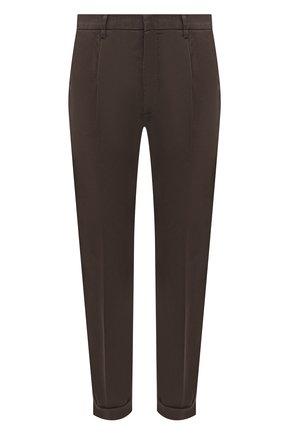 Мужские брюки из хлопка и льна Z ZEGNA хаки цвета, арт. VW162/ZZ330 | Фото 1 (Материал внешний: Хлопок; Длина (брюки, джинсы): Стандартные; Силуэт М (брюки): Чиносы; Случай: Повседневный; Стили: Кэжуэл)