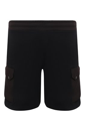 Мужские хлопковые шорты Z ZEGNA черного цвета, арт. VW464/ZZP25 | Фото 1