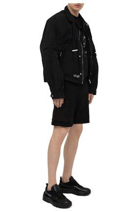 Мужские хлопковые шорты Z ZEGNA черного цвета, арт. VW464/ZZP25   Фото 2 (Материал внешний: Хлопок; Длина Шорты М: До колена; Кросс-КТ: Трикотаж; Принт: Без принта; Стили: Спорт-шик)