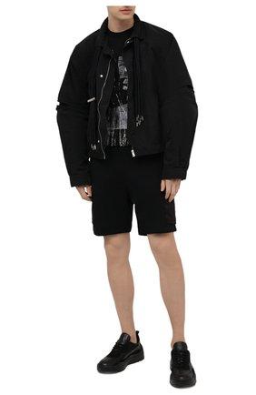 Мужская хлопковая футболка ERMENEGILDO ZEGNA темно-синего цвета, арт. UW526/706M | Фото 2