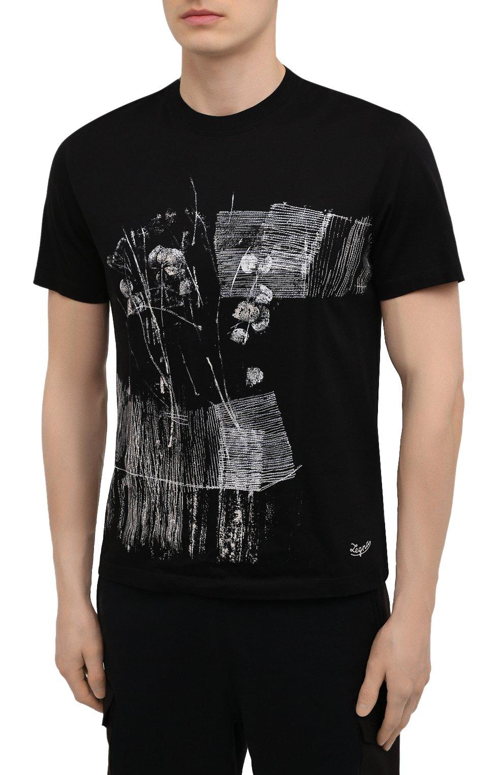 Мужская хлопковая футболка ERMENEGILDO ZEGNA темно-синего цвета, арт. UW526/706M | Фото 3