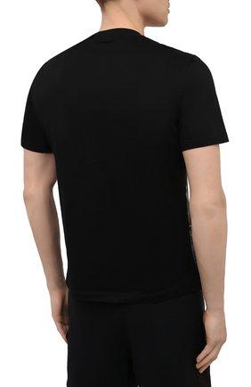 Мужская хлопковая футболка ERMENEGILDO ZEGNA темно-синего цвета, арт. UW526/706M | Фото 4