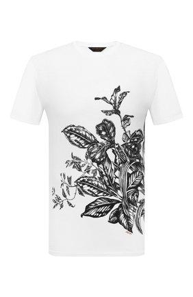 Мужская хлопковая футболка ZEGNA COUTURE белого цвета, арт. CWCJ13/9WJ11 | Фото 1