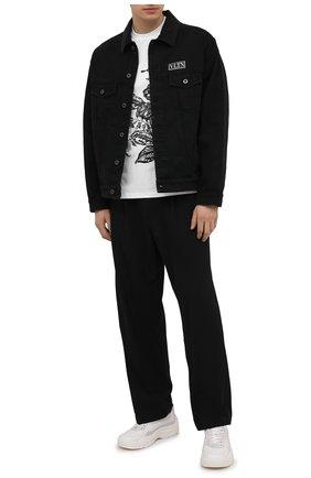 Мужская хлопковая футболка ZEGNA COUTURE белого цвета, арт. CWCJ13/9WJ11 | Фото 2