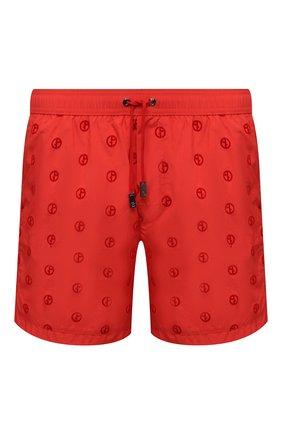 Мужские плавки-шорты GIORGIO ARMANI красного цвета, арт. 200375/1P929 | Фото 1