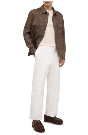 Мужская футболка из шелка и хлопка RALPH LAUREN кремвого цвета, арт. 790831422 | Фото 2