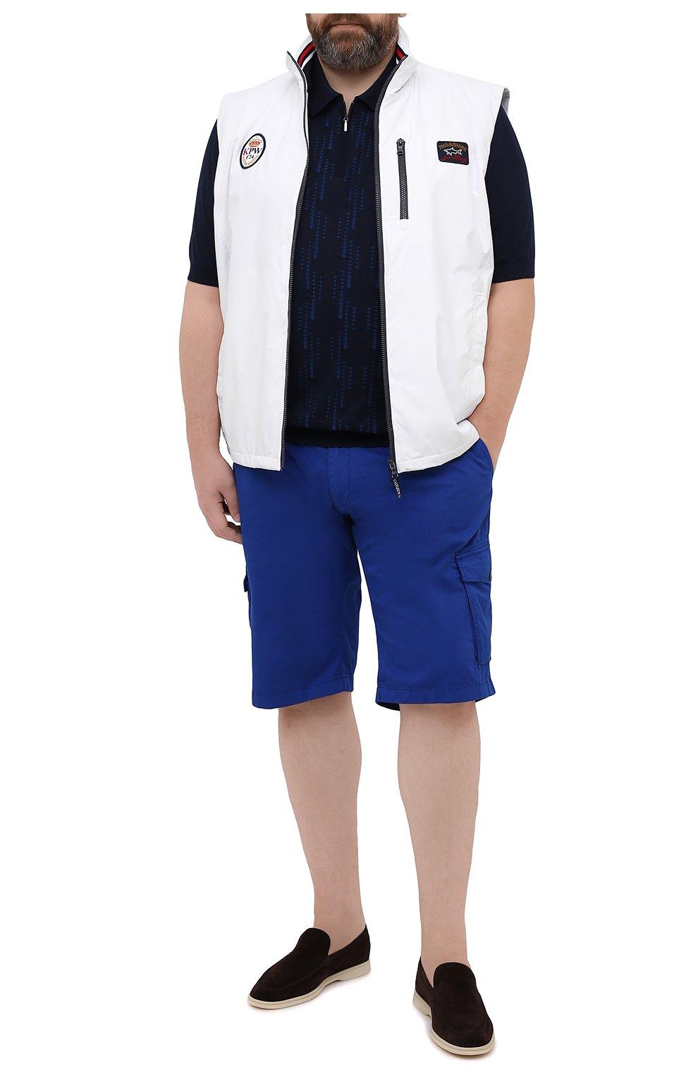 Мужской жилет PAUL&SHARK белого цвета, арт. 21412032/F8I/3XL-6XL   Фото 2 (Кросс-КТ: Куртка; Материал внешний: Синтетический материал; Длина (верхняя одежда): Короткие; Материал подклада: Хлопок; Стили: Кэжуэл)