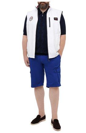 Мужской жилет PAUL&SHARK белого цвета, арт. 21412032/F8I/3XL-6XL | Фото 2 (Длина (верхняя одежда): Короткие; Материал внешний: Синтетический материал; Материал подклада: Хлопок; Стили: Кэжуэл; Кросс-КТ: Куртка)