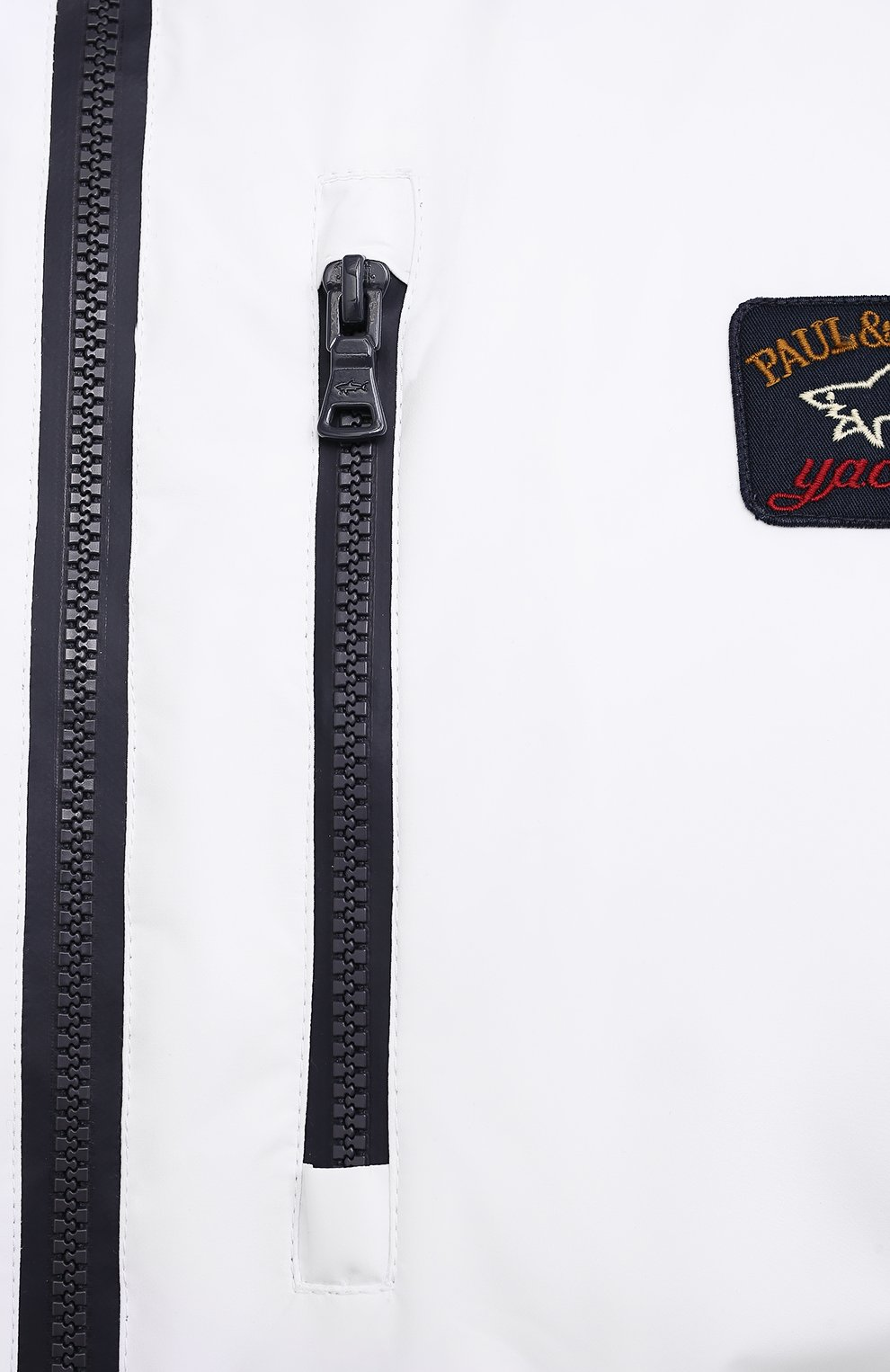 Мужской жилет PAUL&SHARK белого цвета, арт. 21412032/F8I/3XL-6XL   Фото 5 (Кросс-КТ: Куртка; Материал внешний: Синтетический материал; Длина (верхняя одежда): Короткие; Материал подклада: Хлопок; Стили: Кэжуэл)
