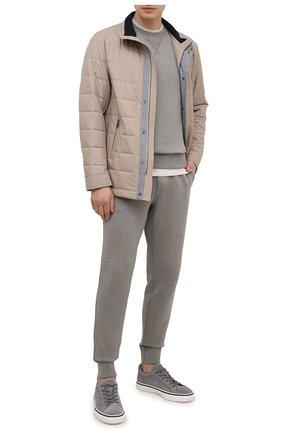 Мужская утепленная куртка PAUL&SHARK светло-бежевого цвета, арт. 21412401/GHH | Фото 2