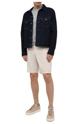 Мужская хлопковая футболка PAUL&SHARK серого цвета, арт. 21411022/C00 | Фото 2