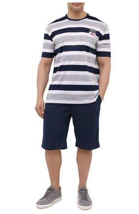 Мужская хлопковая футболка PAUL&SHARK разноцветного цвета, арт. 21411068/C00/3XL-6XL | Фото 2